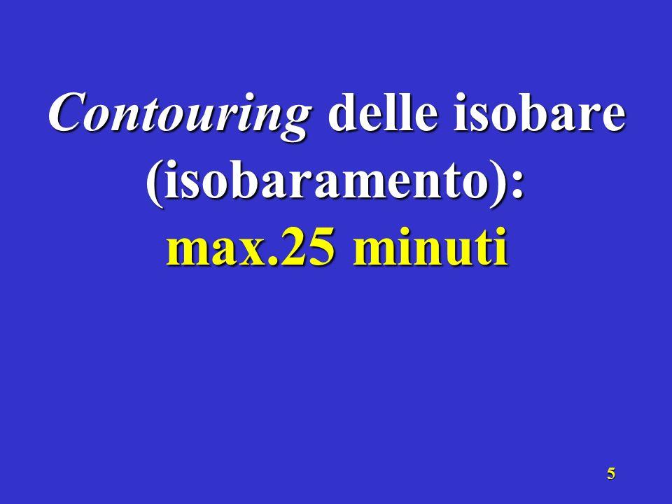 Contouring delle isobare (isobaramento):