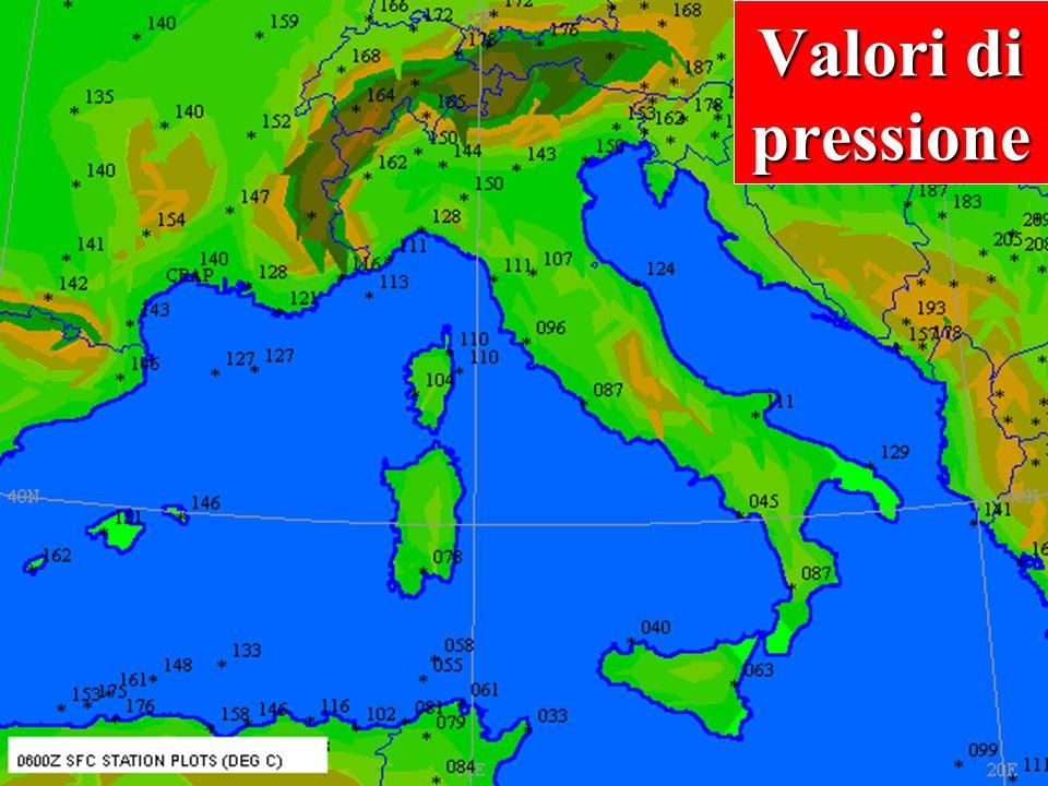 Valori di pressione Leggere i valori