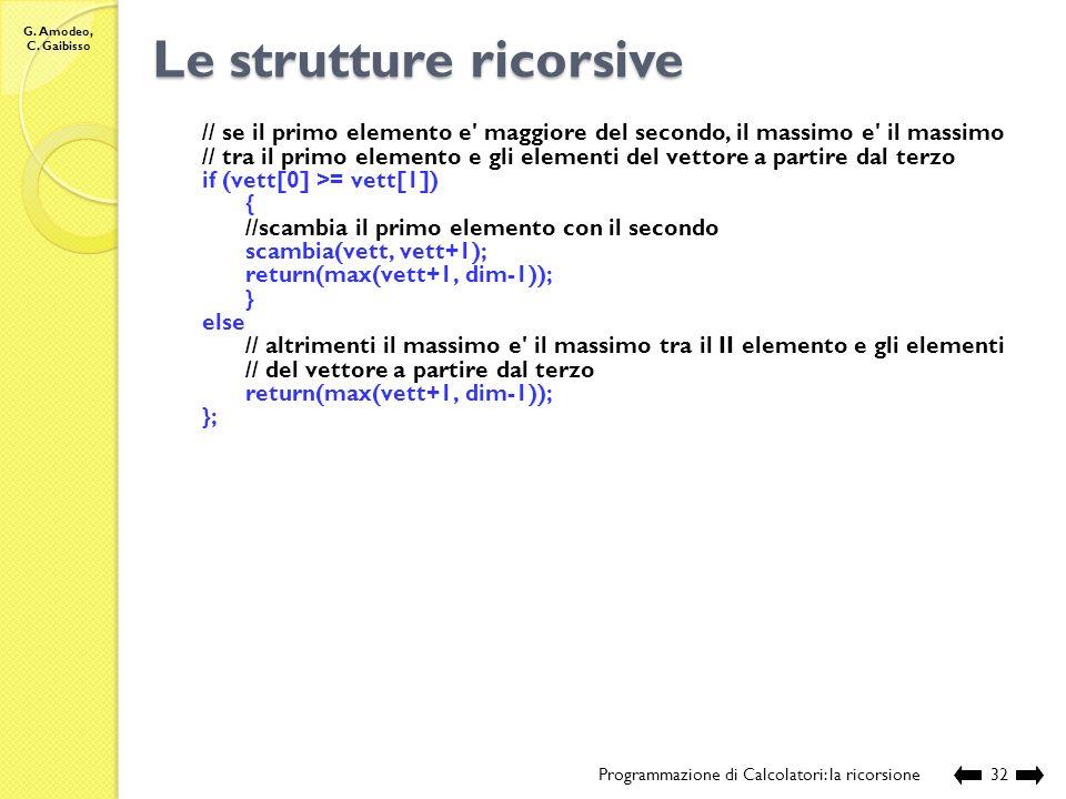 Le strutture ricorsive