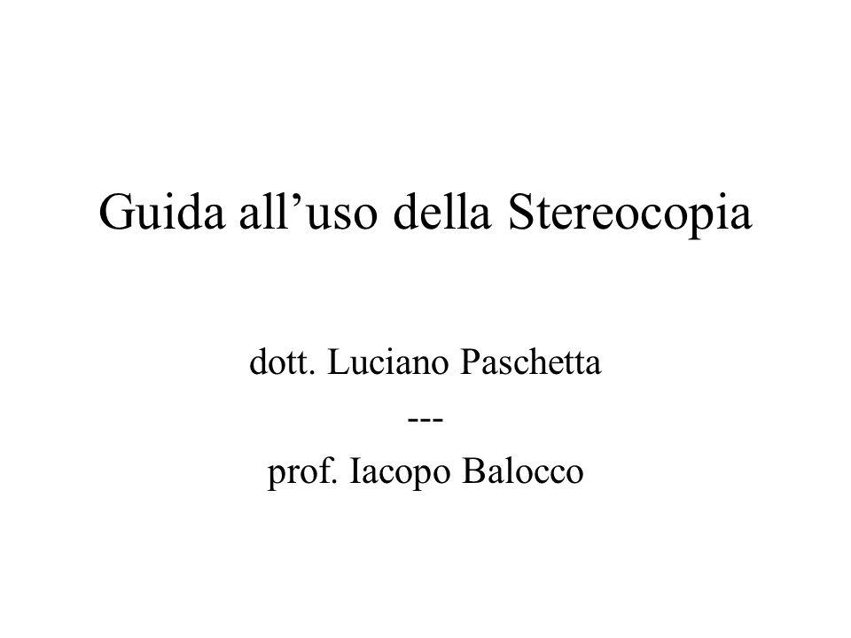 Guida all'uso della Stereocopia