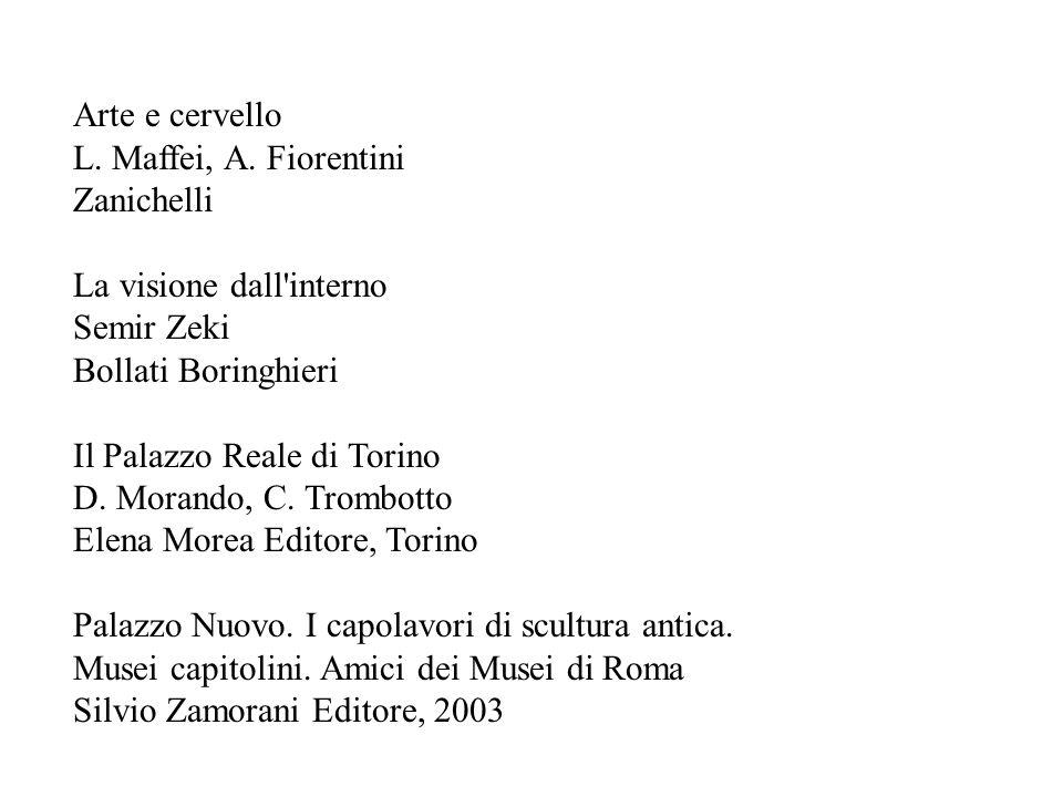 Arte e cervello L. Maffei, A. Fiorentini. Zanichelli. La visione dall interno. Semir Zeki. Bollati Boringhieri.