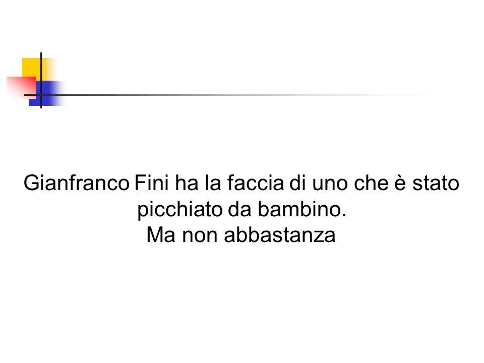 Gianfranco Fini ha la faccia di uno che è stato
