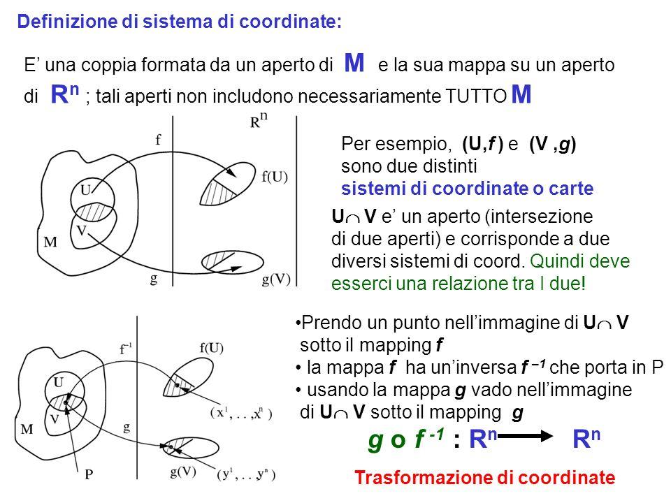 g o f -1 : Rn Rn Sistema di coordinate