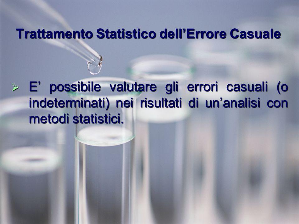 Trattamento Statistico dell'Errore Casuale