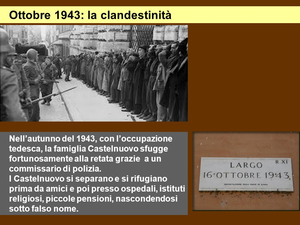 Ottobre 1943: la clandestinità