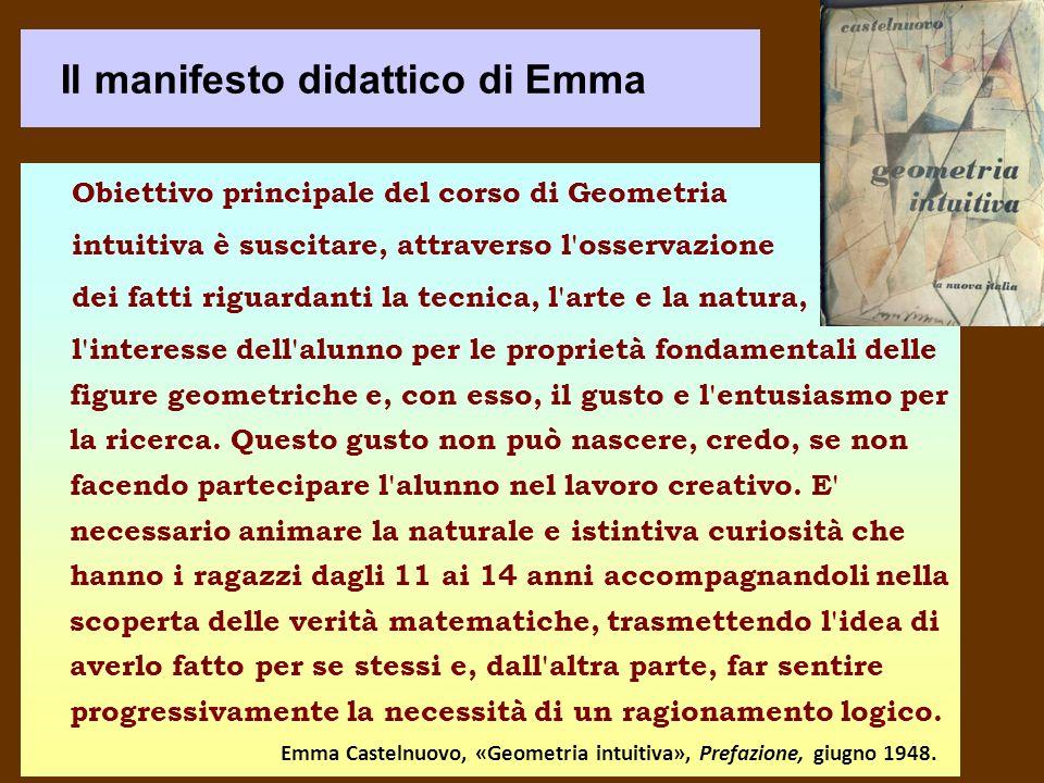 Il manifesto didattico di Emma