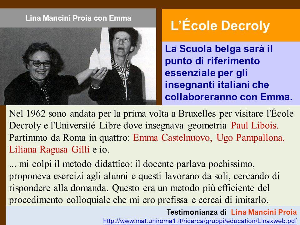 Lina Mancini Proia con Emma
