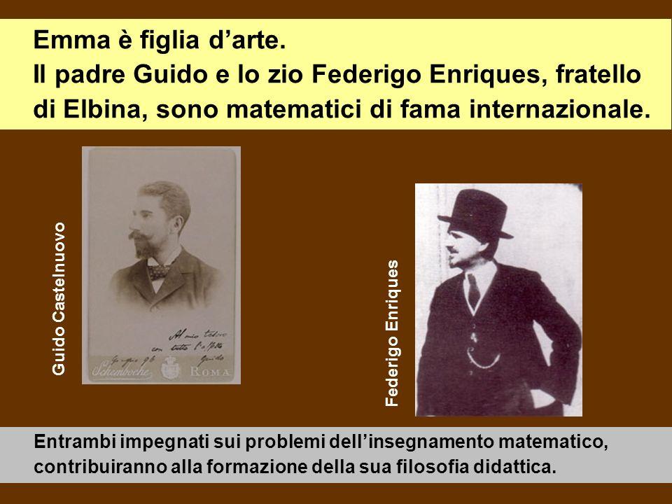 Emma è figlia d'arte. Il padre Guido e lo zio Federigo Enriques, fratello di Elbina, sono matematici di fama internazionale.