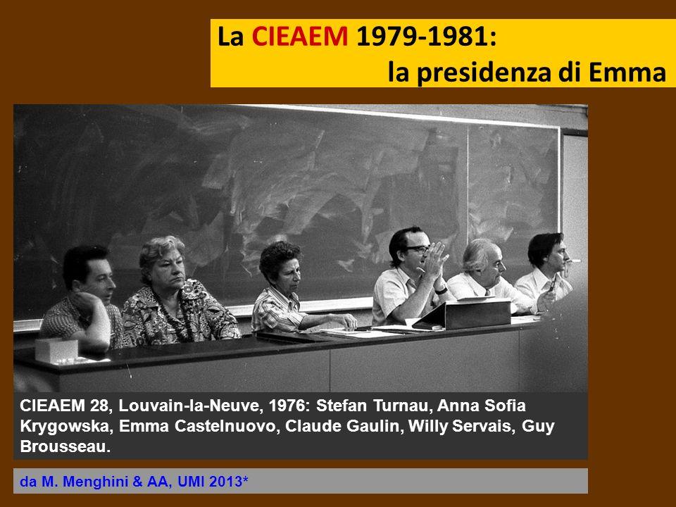 La CIEAEM 1979-1981: la presidenza di Emma