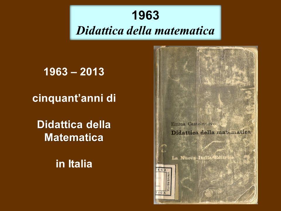 Didattica della matematica Didattica della Matematica