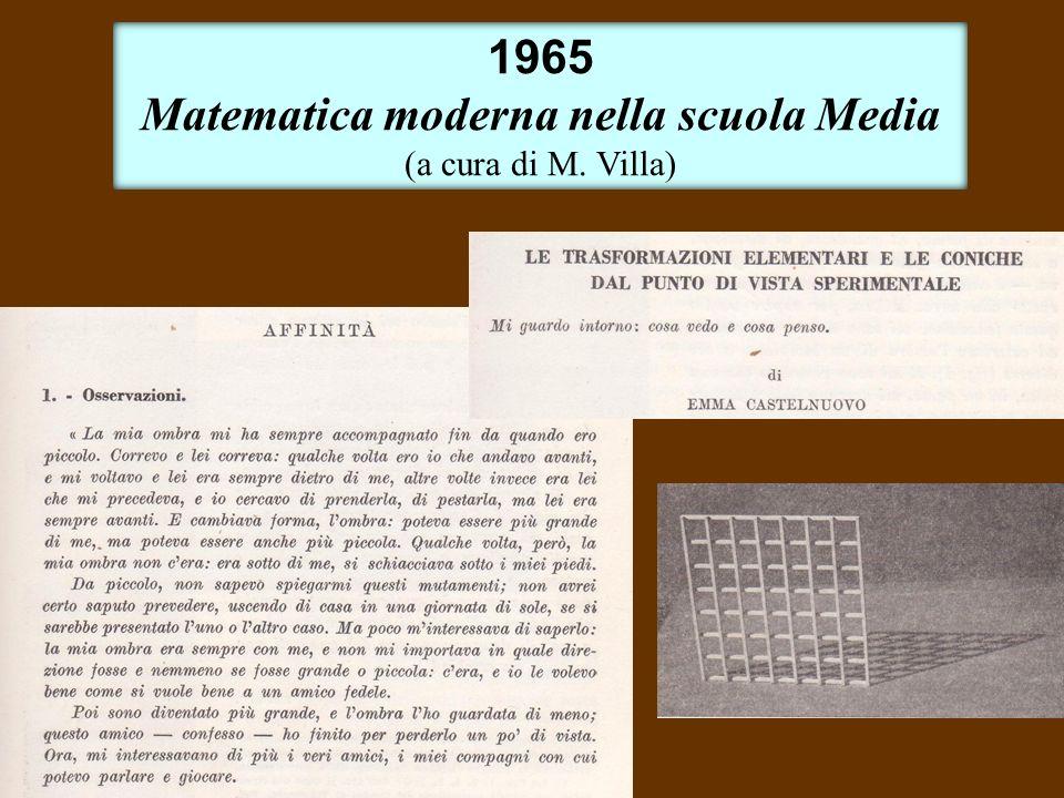 Matematica moderna nella scuola Media