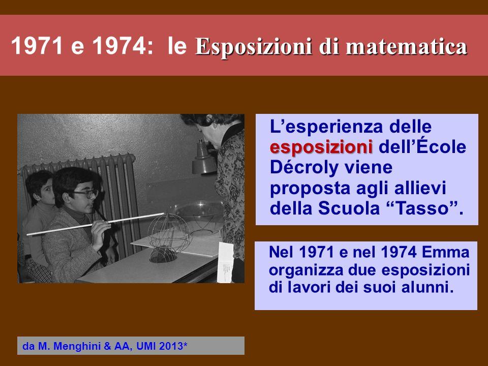 1971 e 1974: le Esposizioni di matematica