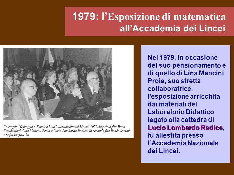 1979: l'Esposizione di matematica