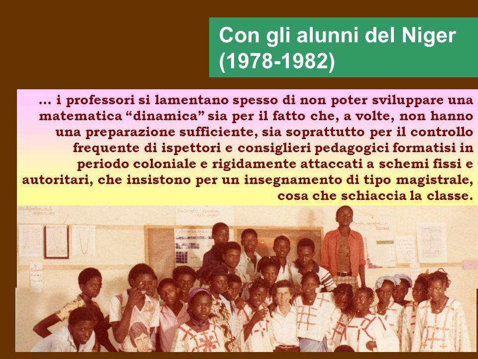 Con gli alunni del Niger (1978-1982)