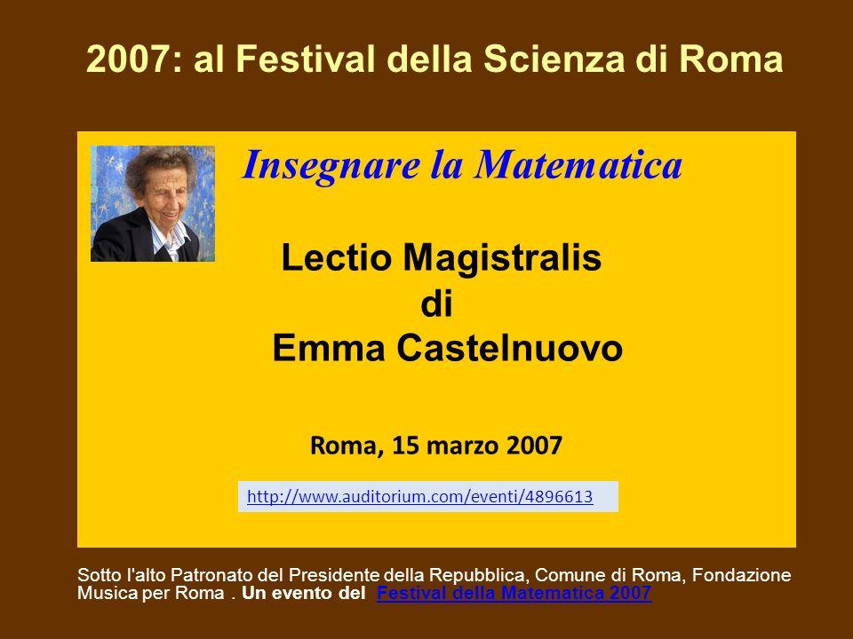 2007: al Festival della Scienza di Roma