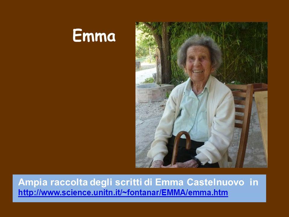 Emma Ampia raccolta degli scritti di Emma Castelnuovo in http://www.science.unitn.it/~fontanar/EMMA/emma.htm.