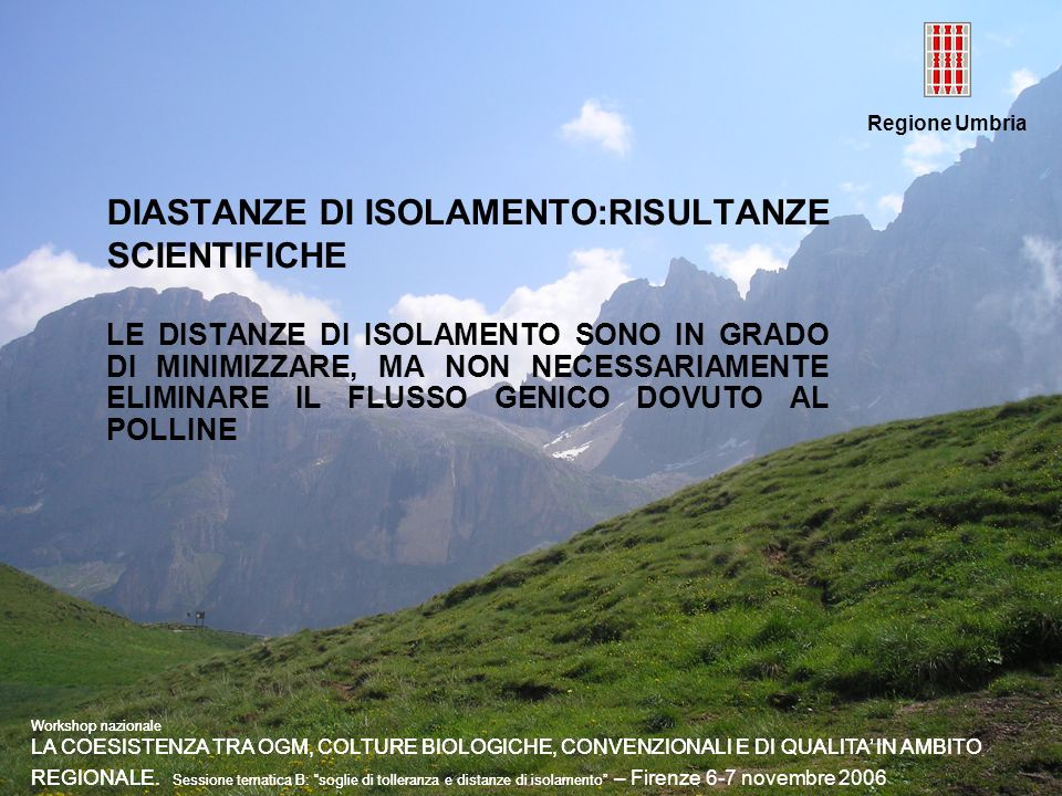 DIASTANZE DI ISOLAMENTO:RISULTANZE SCIENTIFICHE