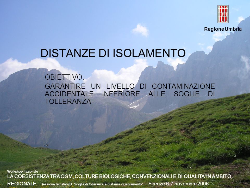 DISTANZE DI ISOLAMENTO