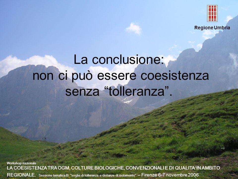 La conclusione: non ci può essere coesistenza senza tolleranza .