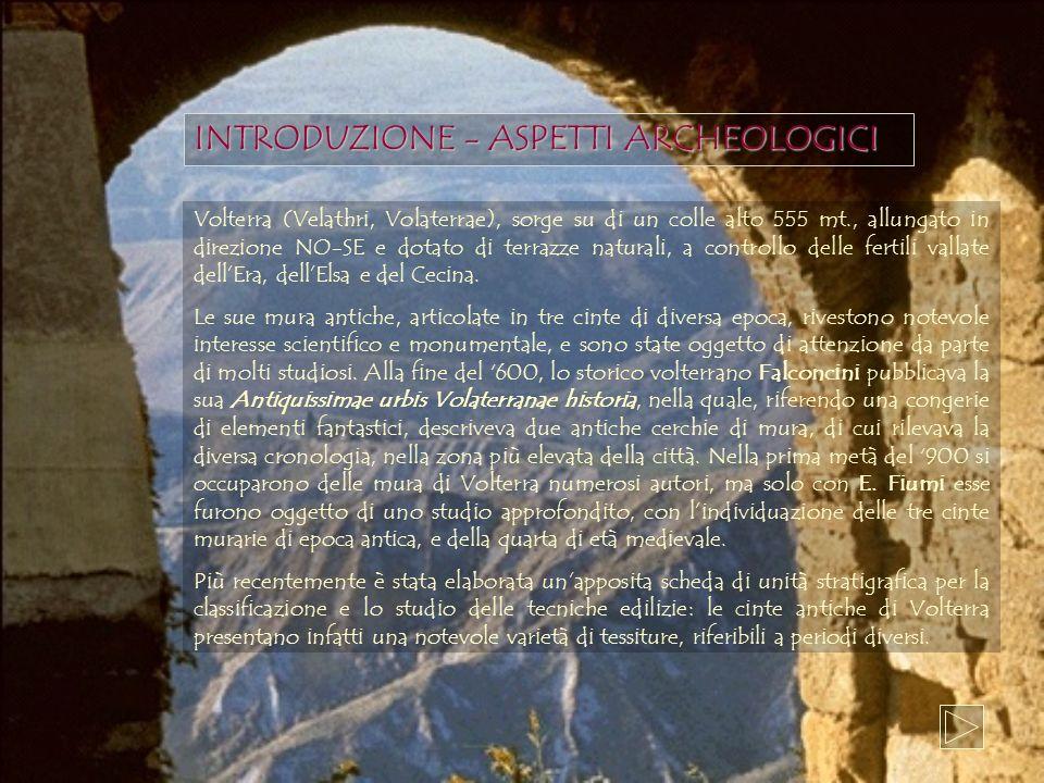 INTRODUZIONE - ASPETTI ARCHEOLOGICI