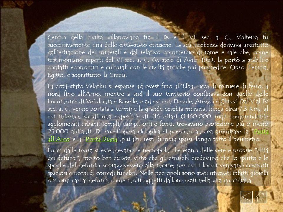 Centro della civiltà villanoviana tra il IX e il VII sec. a. C