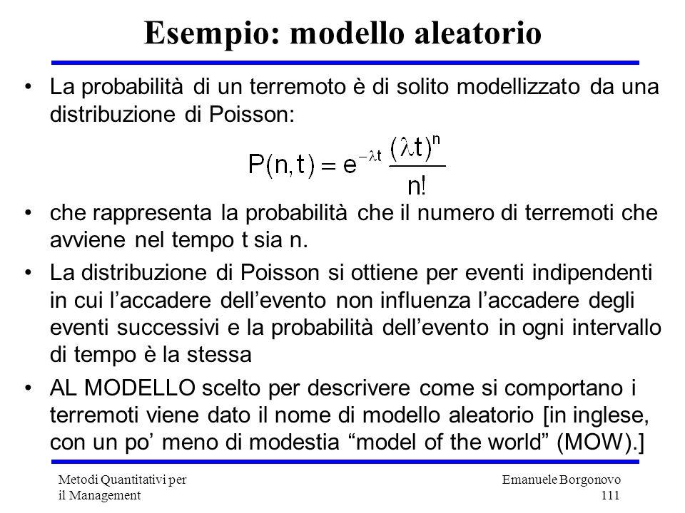 Esempio: modello aleatorio