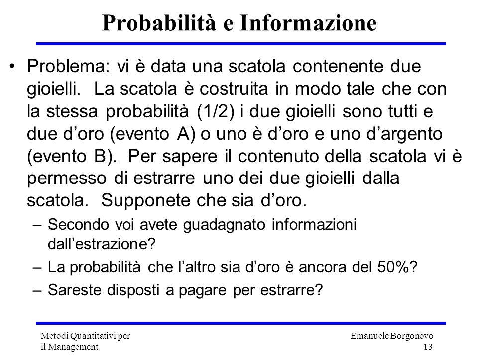 Probabilità e Informazione