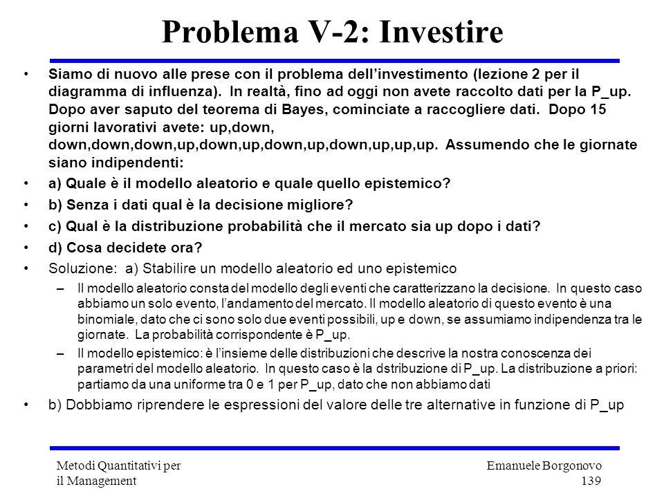 Problema V-2: Investire