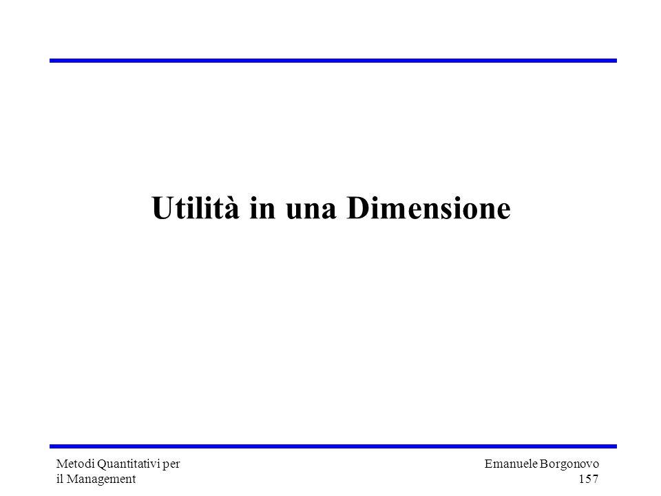 Utilità in una Dimensione