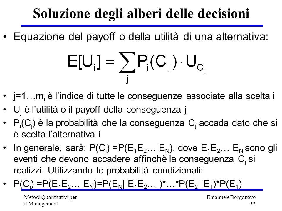 Soluzione degli alberi delle decisioni