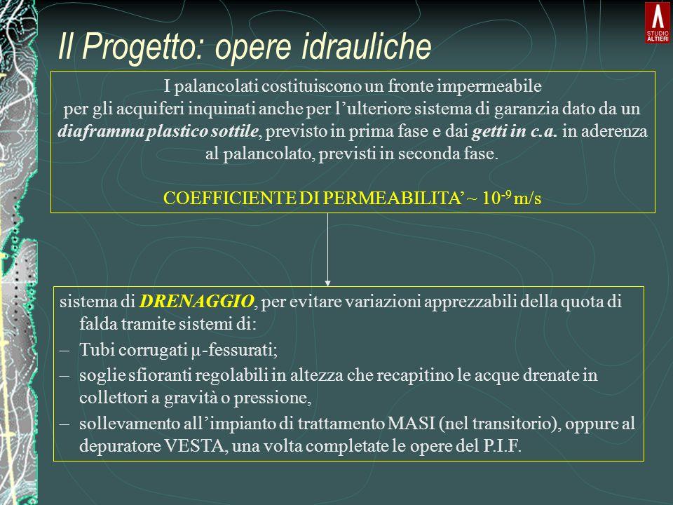 Il Progetto: opere idrauliche