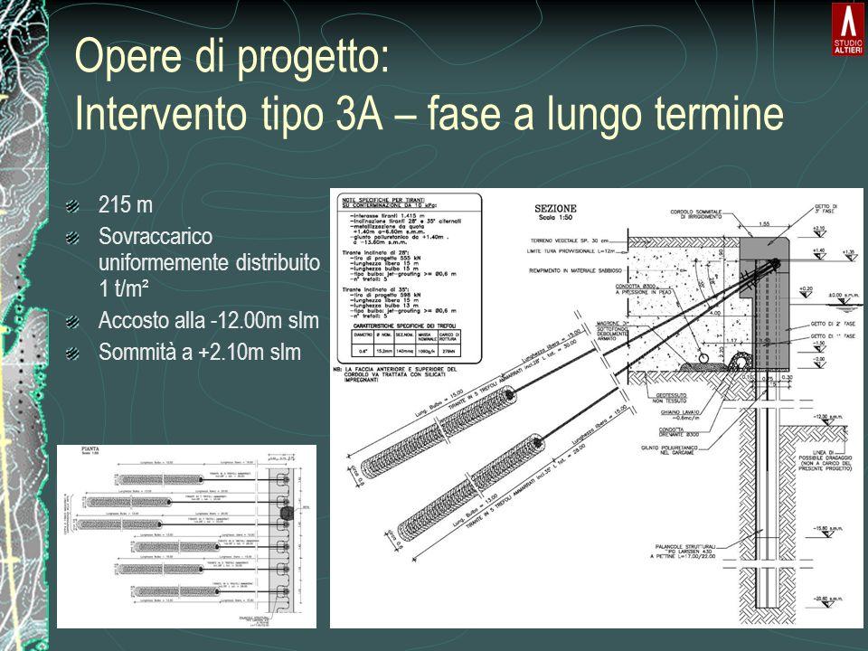 Opere di progetto: Intervento tipo 3A – fase a lungo termine