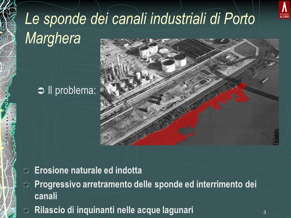 Le sponde dei canali industriali di Porto Marghera