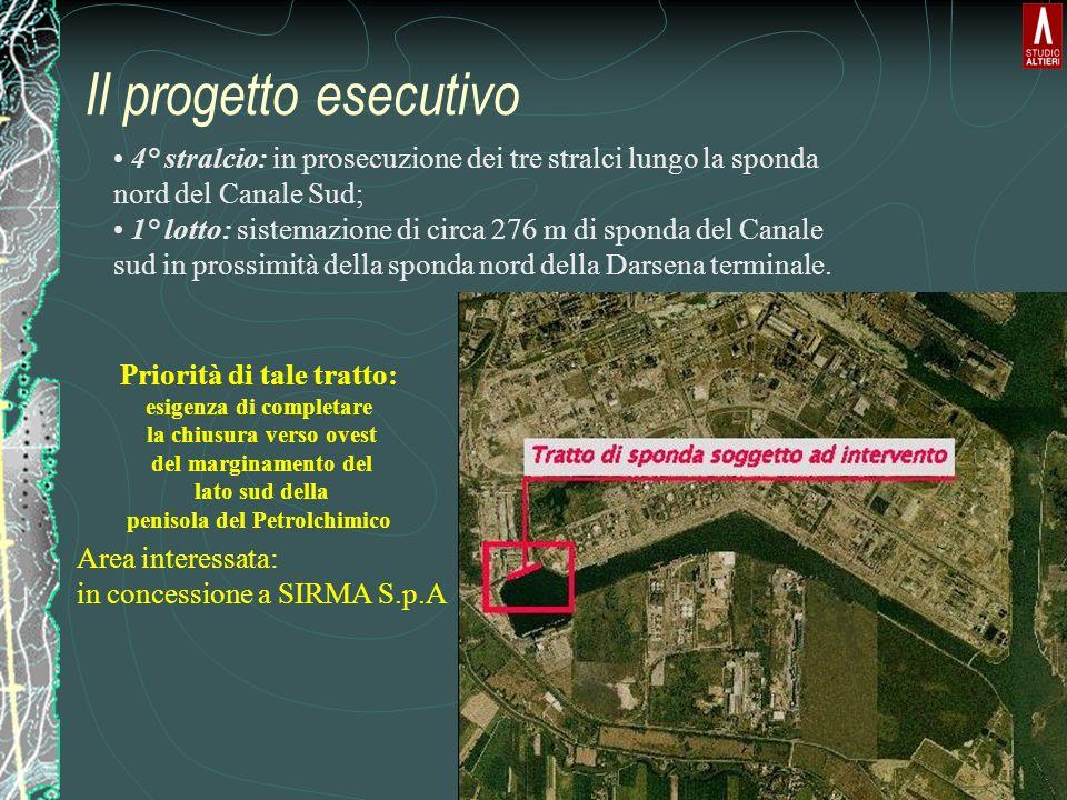 Il progetto esecutivo 4° stralcio: in prosecuzione dei tre stralci lungo la sponda nord del Canale Sud;