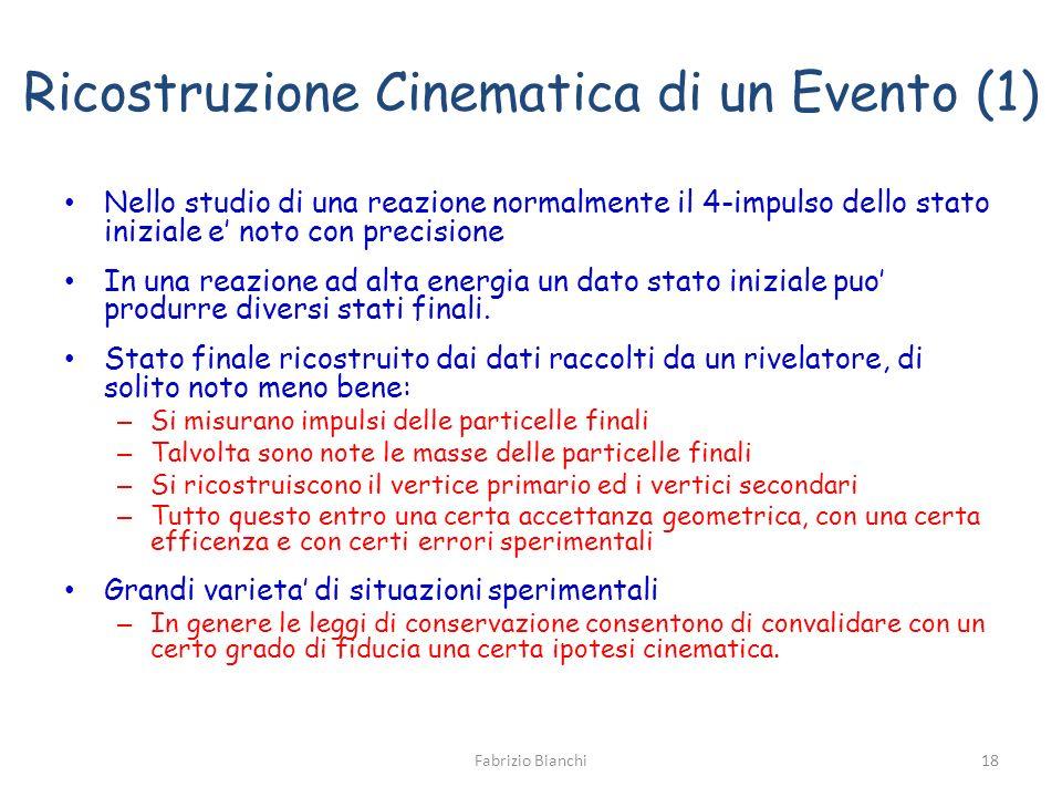 Ricostruzione Cinematica di un Evento (1)