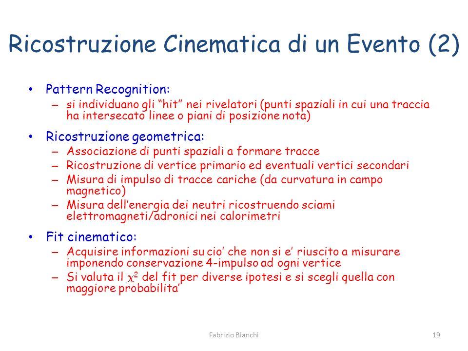 Ricostruzione Cinematica di un Evento (2)