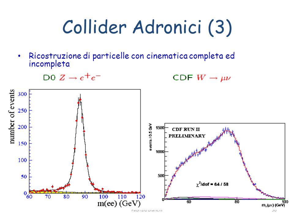 Collider Adronici (3) Ricostruzione di particelle con cinematica completa ed incompleta.