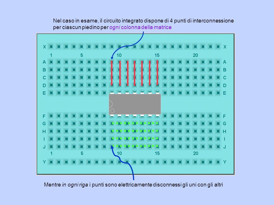 Nel caso in esame, il circuito integrato dispone di 4 punti di interconnessione