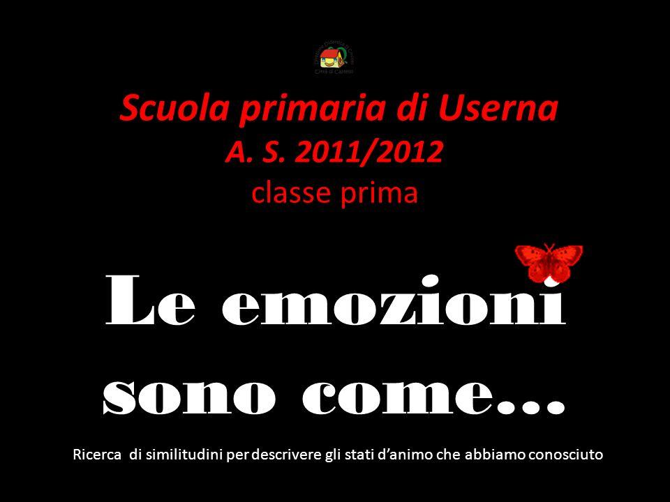 Scuola primaria di Userna A. S. 2011/2012 classe prima