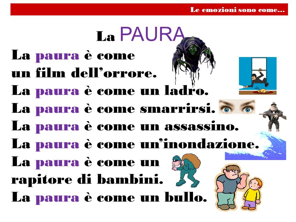La paura è come smarrirsi. La paura è come un assassino.