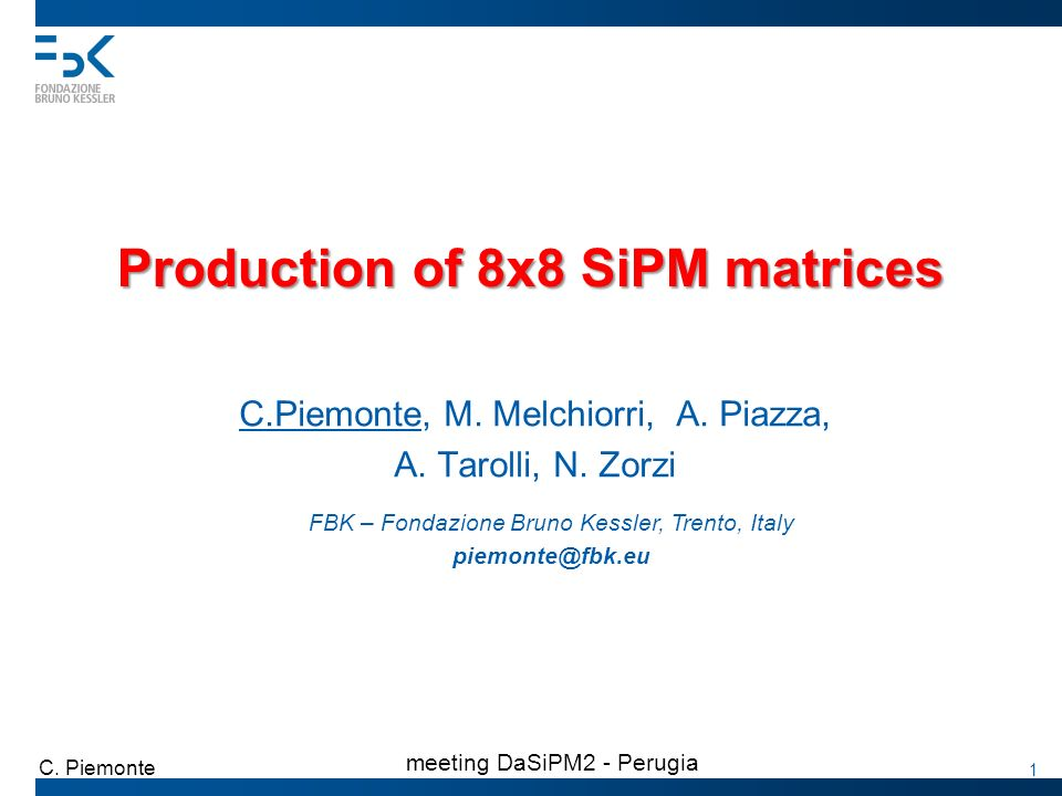 Production of 8x8 SiPM matrices