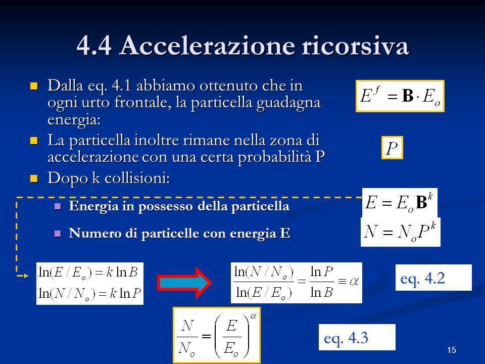 4.4 Accelerazione ricorsiva