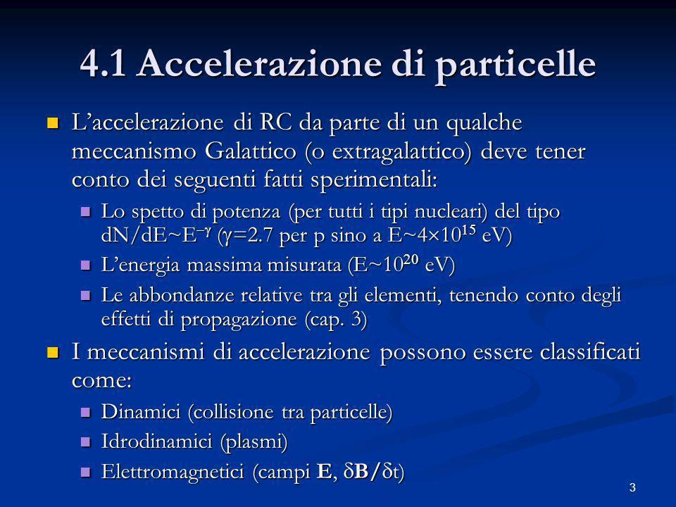 4.1 Accelerazione di particelle