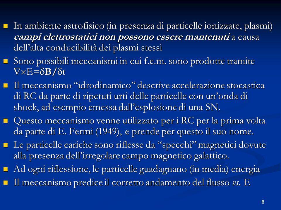 In ambiente astrofisico (in presenza di particelle ionizzate, plasmi) campi elettrostatici non possono essere mantenuti a causa dell'alta conducibilità dei plasmi stessi
