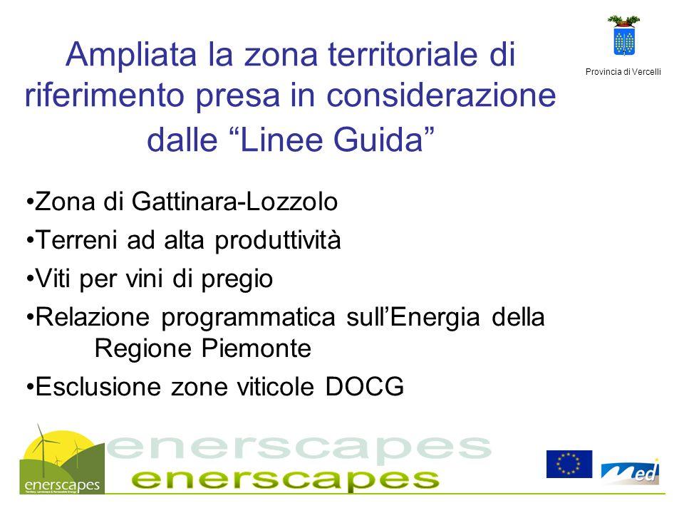 29/03/2017 Ampliata la zona territoriale di riferimento presa in considerazione dalle Linee Guida