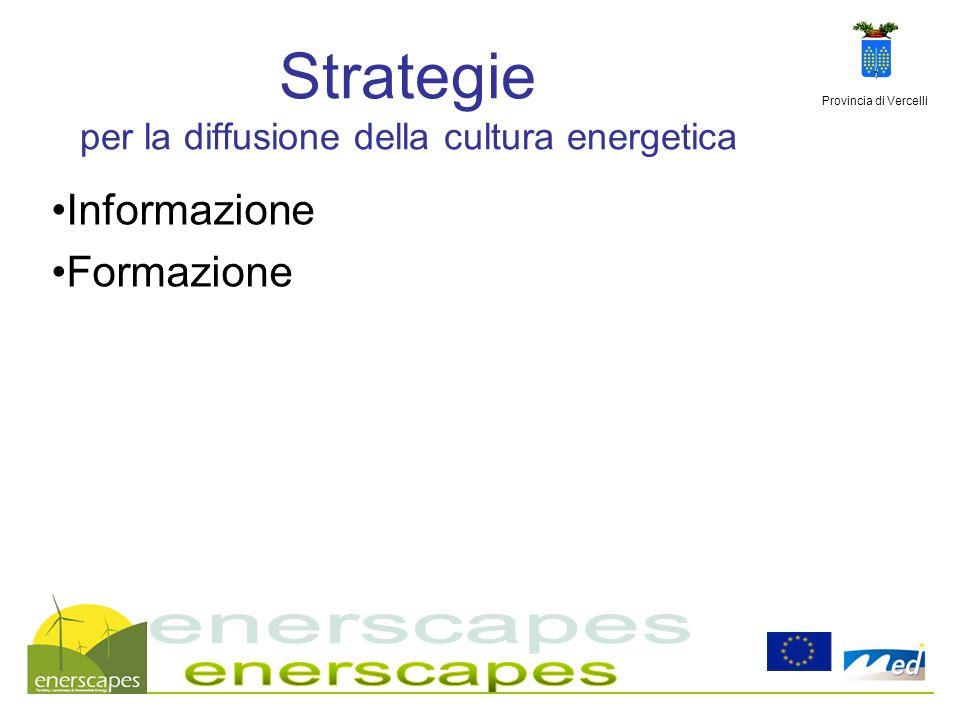 Strategie per la diffusione della cultura energetica