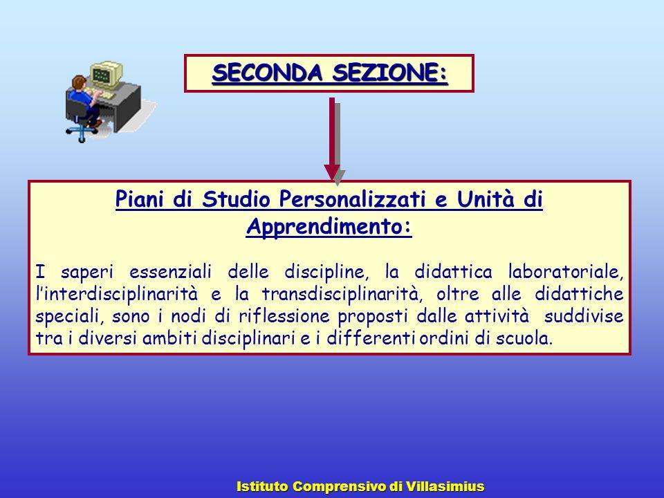 Piani di Studio Personalizzati e Unità di Apprendimento: