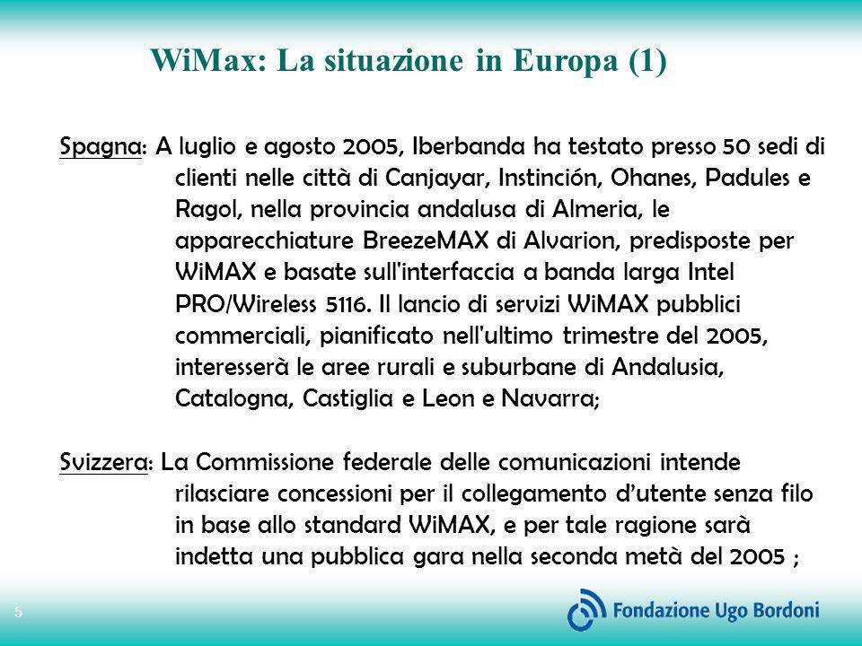 WiMax: La situazione in Europa (1)