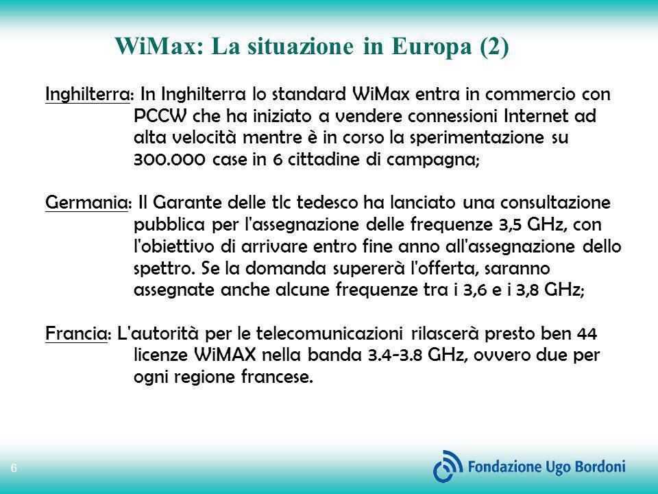 WiMax: La situazione in Europa (2)