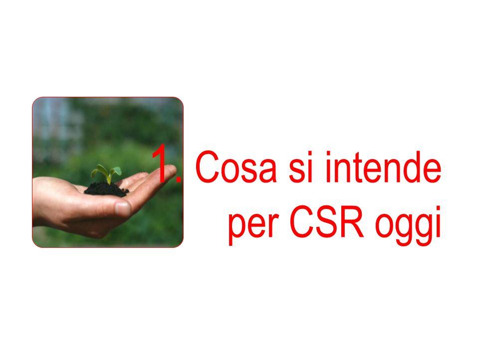 1. Cosa si intende per CSR oggi